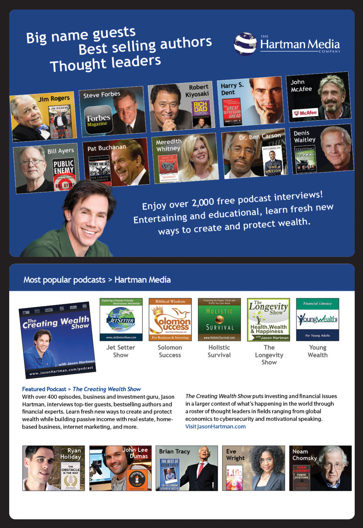 Hartman Media's Podcast Guest Brochure Page 1